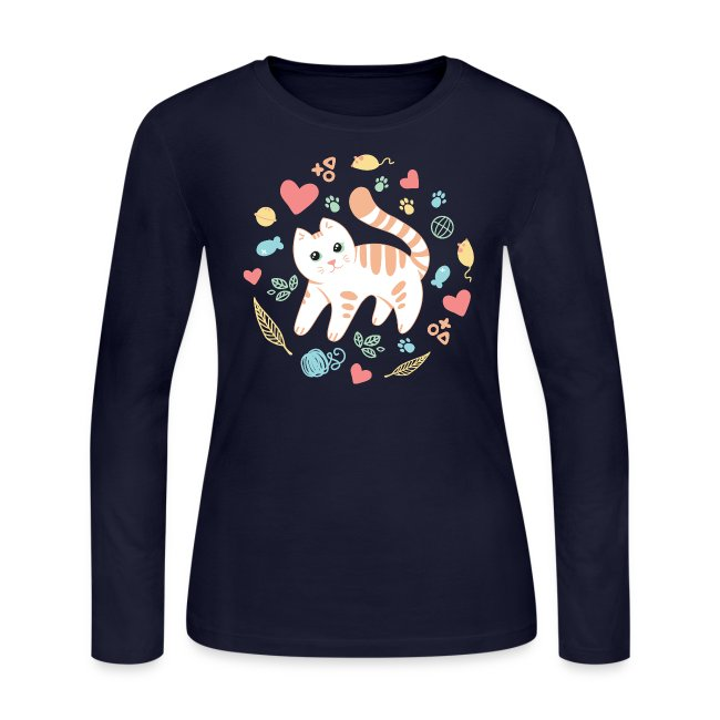 Kitty's Favorite Things Long Sleeve Shirt