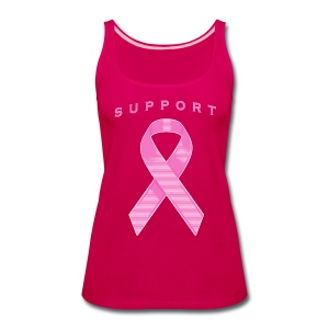 Pink Awareness Ribbon - Women's Premium Tank Top