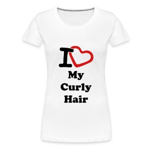 Women's Premium T-Shirt - afro,coily,crop top,curly,kinky,love,nappy,natural hair,natural hair t-shirts,pick,t-shirts,womens t-shirts