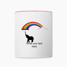 Elephant and Rainbow  Bottles & Mugs
