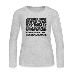 East Boston Suburbs - Women's Long Sleeve Jersey T-Shirt