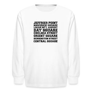 East Boston Suburbs - Kids' Long Sleeve T-Shirt