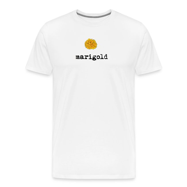 Marigold Men's T (black letters)