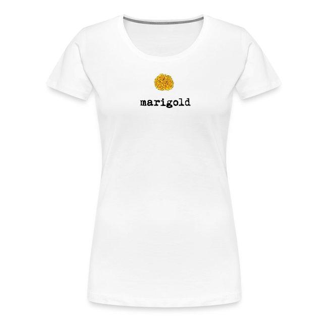 Marigold Women's T (black letters)