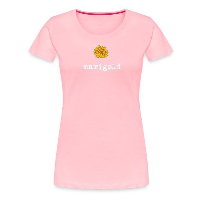 Marigold Women's T (white letters)