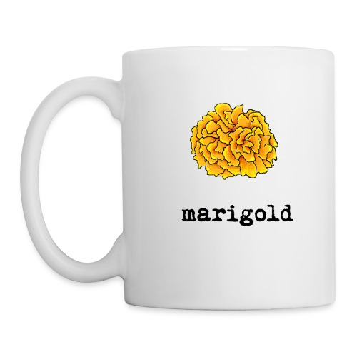 Marigold Mug: White - Coffee/Tea Mug