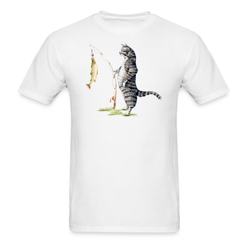 Cat with Fish Classic Tee - Men's T-Shirt