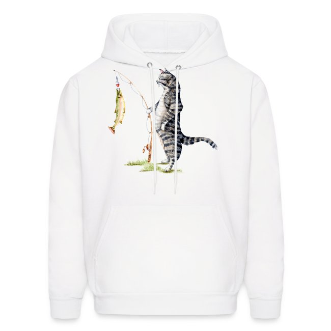 Cat with Fish Hoodie