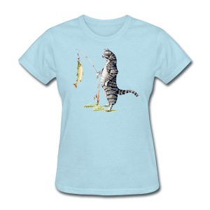 Cat with Fish Classic Tee - Women's T-Shirt