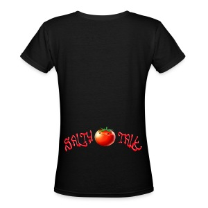 SaltyTalk Tomato - Women's V-Neck T-Shirt
