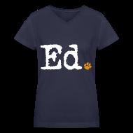 Women's T-Shirts ~ Women's V-Neck T-Shirt ~ Ed.