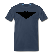 T-Shirts ~ Men's Premium T-Shirt ~ Mens T-Shirt // Minimalist Superhero THE BAT