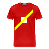 T-Shirts ~ Men's Premium T-Shirt ~ Mens T-Shirt // Minimalist Superhero THE SPEEDSTER