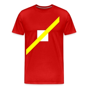 Mens T-Shirt // Minimalist Superhero THE SPEEDSTER - Men's Premium T-Shirt