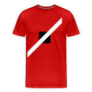 T-Shirts ~ Men's Premium T-Shirt ~ Mens T-Shirt // Minimalist Superhero THE SPEEDSTER - Monochrome