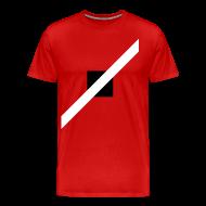 T-Shirts ~ Men's Premium T-Shirt ~ Mens T-Shirt // Minimalist Superhero THE SPEEDSTER - Monochrome