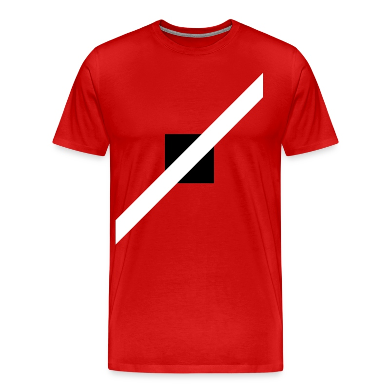 Mens T-Shirt // Minimalist Superhero THE SPEEDSTER - Monochrome - Men's Premium T-Shirt