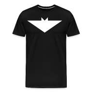 T-Shirts ~ Men's Premium T-Shirt ~ Mens T-Shirt // Minimalist Superhero THE BAT - Light