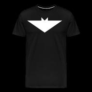 T-Shirts ~ Men's Premium T-Shirt ~ Mens T-Shirt // Minimalist Superhero THE BAT - Light