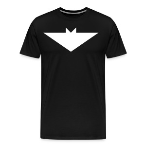 Mens T-Shirt // Minimalist Superhero THE BAT - Light - Men's Premium T-Shirt