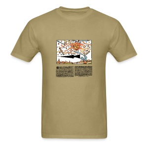 UFOs over Nuremberg 1561 - Men's T-Shirt
