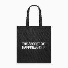 The secret of happiness is ... Bags & backpacks
