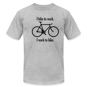 I bike to work I work to bike - Men's T-Shirt by American Apparel