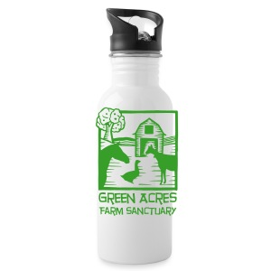 Aluminum Water Bottle - Green Logo - Water Bottle
