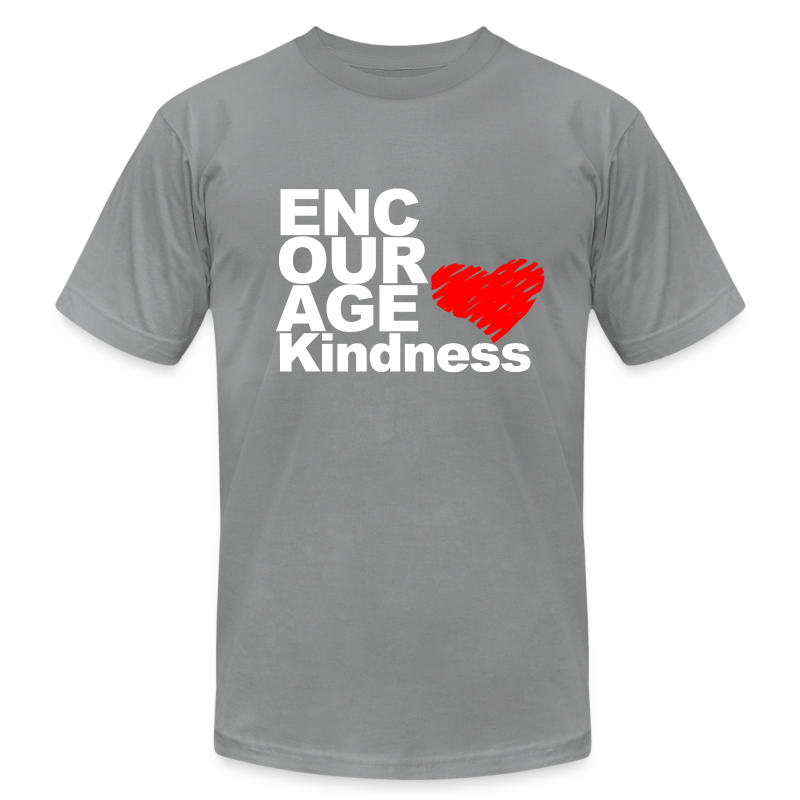 Kindness with Heart - Unisex Tee - Men's T-Shirt by American Apparel