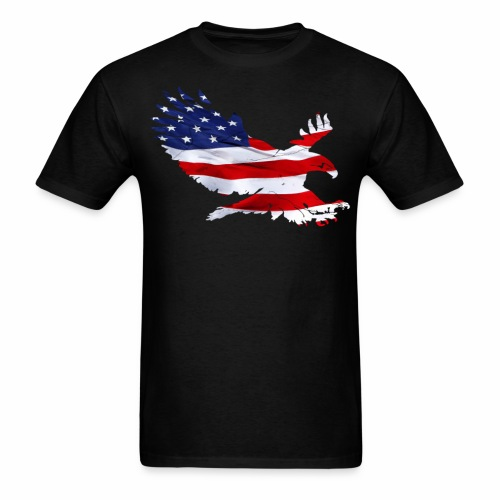 Eagle USA Flag T-endureiowa.org - Men's T-Shirt