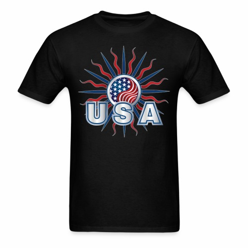 USA Tee 2 side-print - Men's T-Shirt