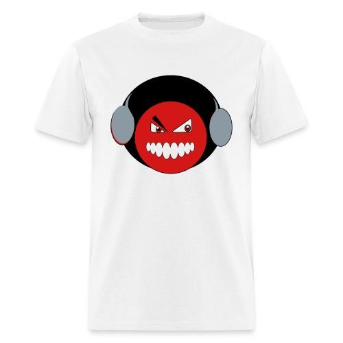Afro Smiley Red/Blk/Slvr - Men's T-Shirt