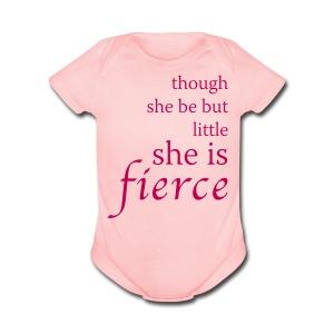 Fierce Baby Short Sleeve Infant Bodysuit - Short Sleeve Baby Bodysuit