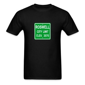 Roswell City Sign - Men's T-Shirt