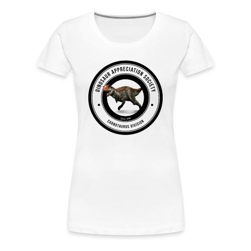 Dinosaur Appreciation Society: Carnotaurus - Women's Premium T-Shirt