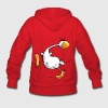 Funny Indian Runner Duck Cartoon Hoodies - Women's Hoodie