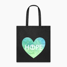 Hope in Jesus Heart Tote Bag