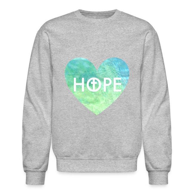 5eb4e1ac678 Hope in Jesus Heart Women s Crewneck Sweatshirt