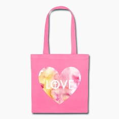 Love for Christ Heart Tote Bag