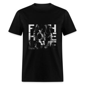 Faith Hope Love Lion - Men's T-Shirt