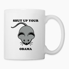 Shut up your mouse Obama Bottles & Mugs