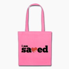 I am Saved by Jesus Tote Bag