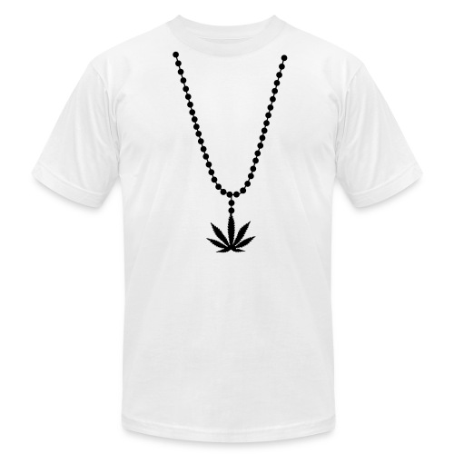 Weed Necklace T-Shirt - Men's Fine Jersey T-Shirt