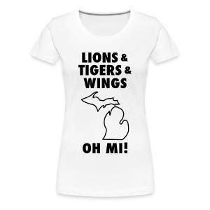Lions & Tigers & Wings Oh MI! black - Women's Premium T-Shirt