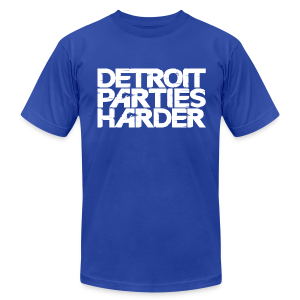 DETROIT PARTIES HARDER - Men's T-Shirt by American Apparel