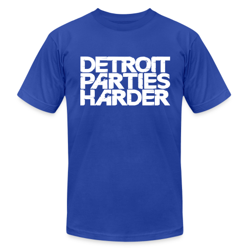 DETROIT PARTIES HARDER - Men's  Jersey T-Shirt