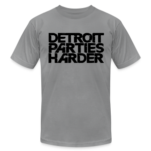 Men's T-Shirt by American Apparel - DETROIT PARTIES HARDER