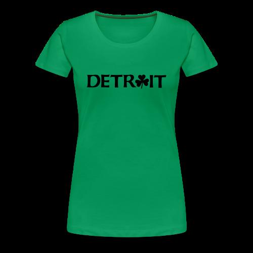 Detroit Shamrock - Women's Premium T-Shirt