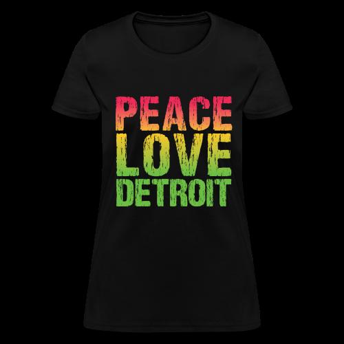 PEACE LOVE DETROIT - Women's T-Shirt