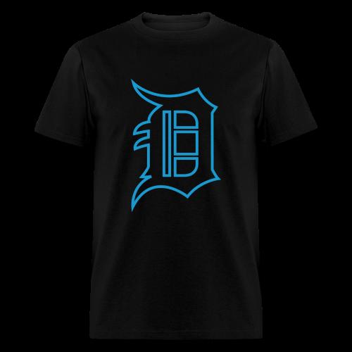 Outline D Blue - Men's T-Shirt